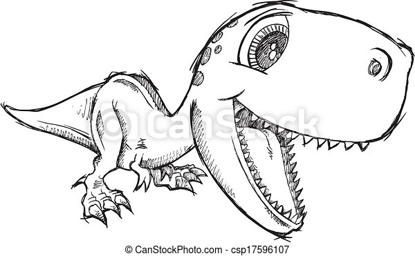 Gallery For gt Cute T Rex Drawing