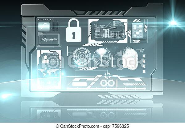 interfaccia, sicurezza - csp17596325