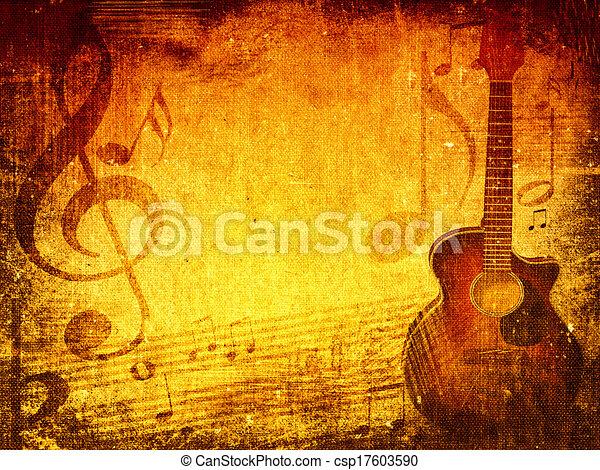 Music grunge background - csp17603590