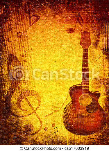 Music grunge background - csp17603919