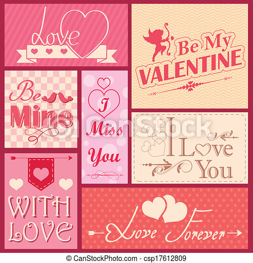 Love label for Valentine's day decoration - csp17612809