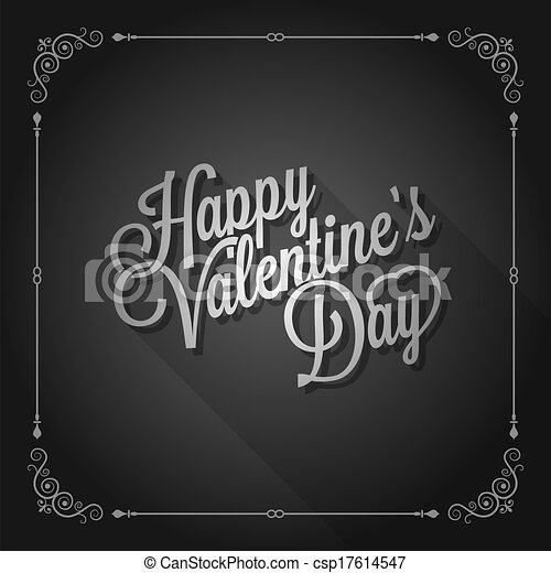 valentines day vintage movie design background - csp17614547