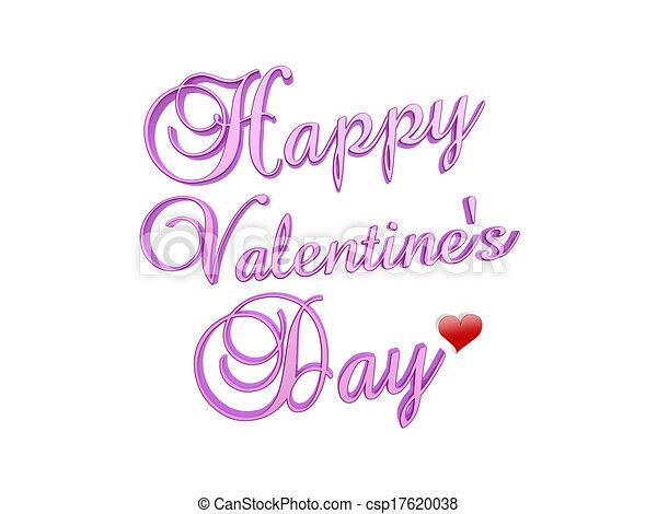 happy Valentine's day - csp17620038