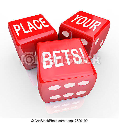 Place Your Bets Dice Gambling Future Opportunity Guess - csp17620192