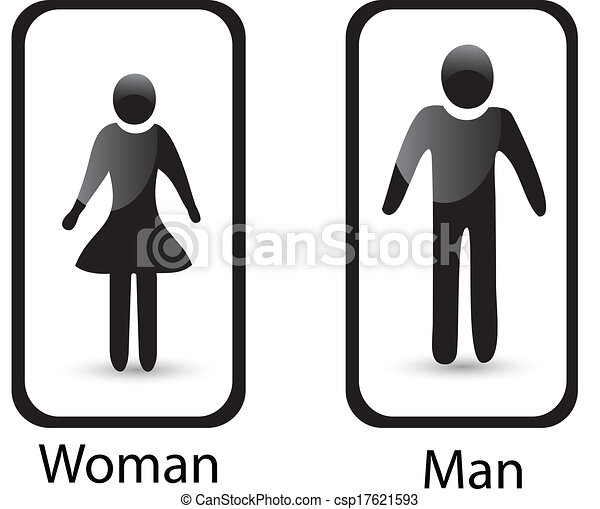 Bathroom Sign Man And Woman eps vectors of restroom sign man & woman symbol vector csp17621593