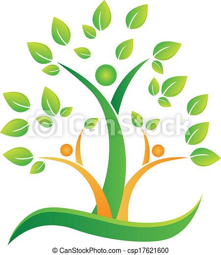 树, 心, 手, 符号, 矢量, 设计