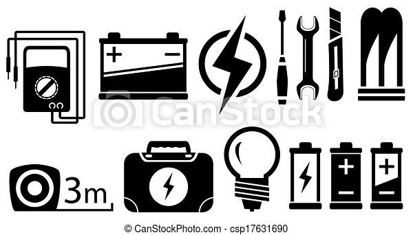set electrical objects - csp17631690