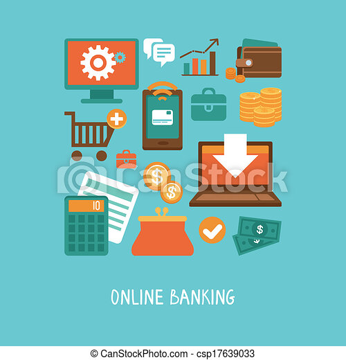 Online banking and business - csp17639033
