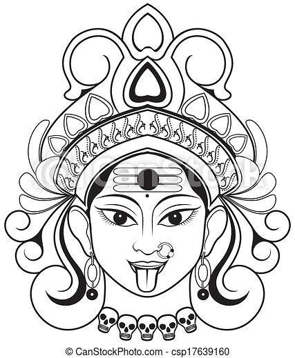 Illustration De Kali - Indien Godddes Kali Maa Csp17639160 - Recherchez Des Clip Art Des ...