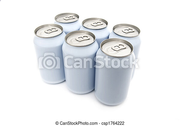Six pack beverage cans - csp1764222