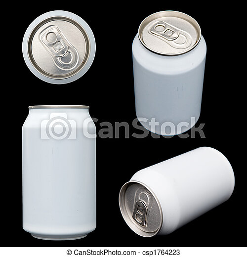 Projections of a blank beverage can - csp1764223