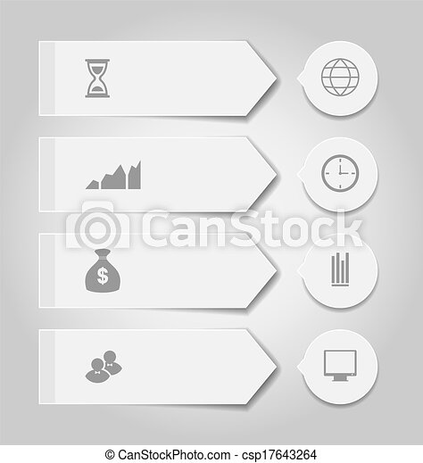 Set modern business banners with infographic icons - csp17643264