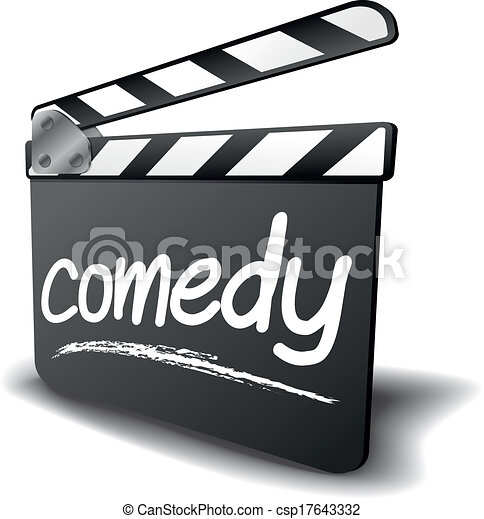 Comedy Clipart Vector - clapper board comedy