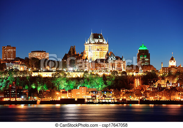 Quebec City at night - csp17647058