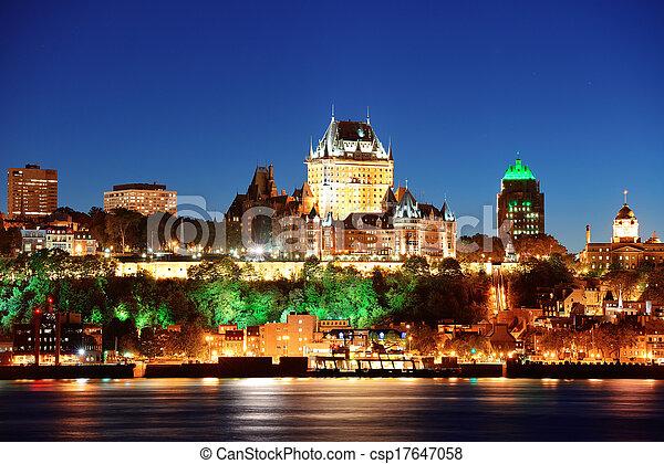 Quebec City at night - csp17647058