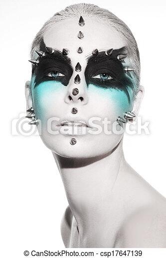 Avant-garde fashion portrait  - csp17647139