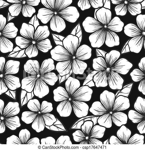 Vektor schöne schwarz weißes seamless hintergrund grafik