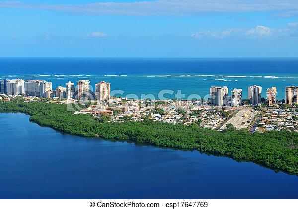 San Juan aerial view - csp17647769