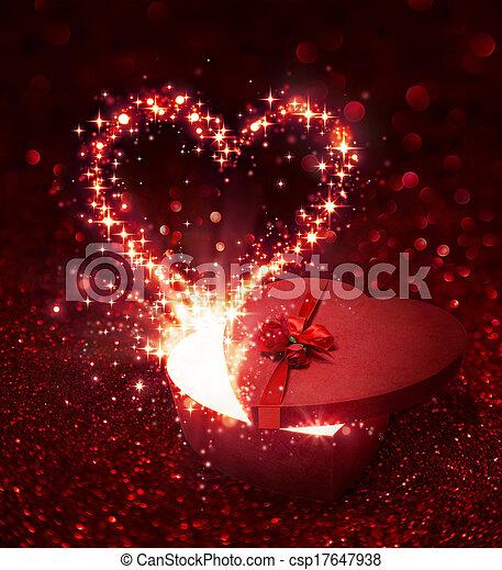 Valentine's Day gift - with sparkli - csp17647938