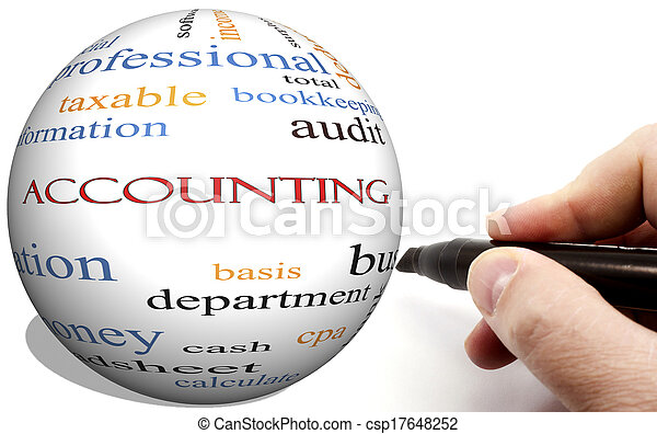 Hand Writing on Accounting Cirlce word concept - csp17648252