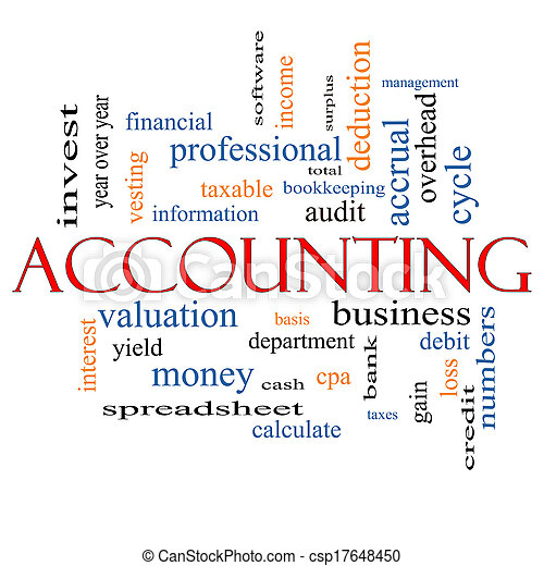 Accounting Word Cloud Concept - csp17648450