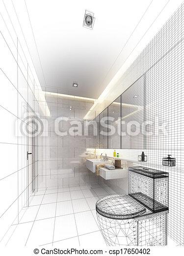 Stock illustration von skizze design inneneinrichtung for Inneneinrichtung badezimmer