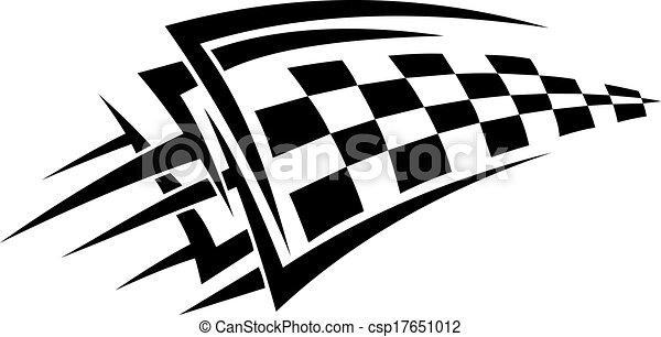 Vector Clip Art of Tattoo with racing flag for sports design ...