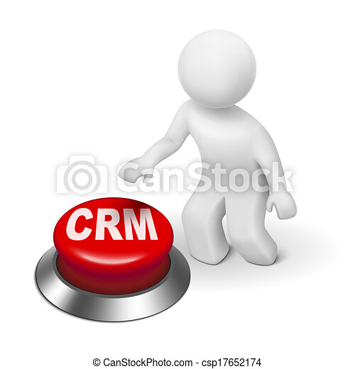 Vectors Illustration of 3d man with crm (Customer ...