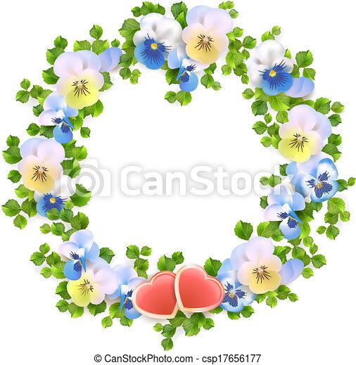 vecteur fleurs floral couronne vecteur curs