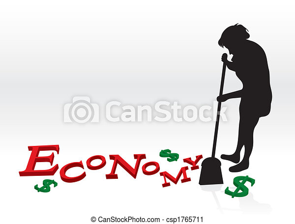 Cleaning Up The Economy - csp1765711