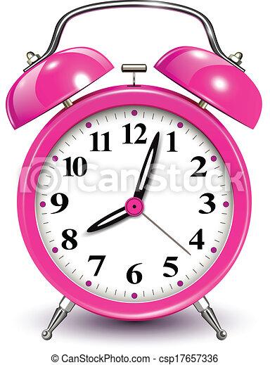 of Alarm clock, vector illustration. csp17657336 - Search Clip Art ...