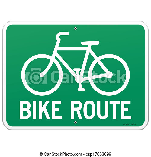 Bicycle Route Sign - csp17663699