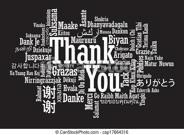 thank you word cloud illustration - csp17664316