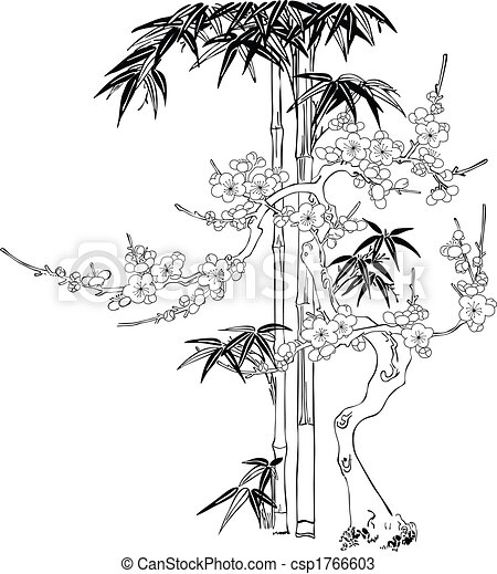 Dessins de arbre silhouette chinois style arbre branches csp1766603 recherchez des - Dessin arbre chinois ...