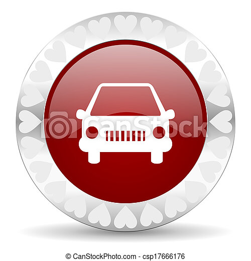 car valentines day icon - csp17666176