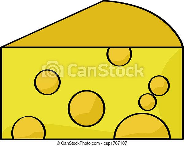 caricatura, queso - csp1767107