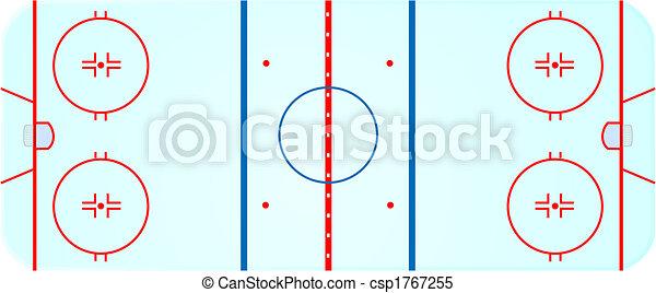 Vecteur clipart de hockey patinoire illustration de une a rien vue de csp1767255 - Dessin patinoire ...