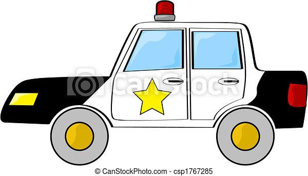 汽車, 警察, 卡通 - csp1767285
