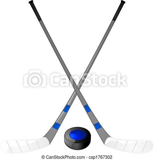 Hockey Stick Template Hockey Puck And Sticks