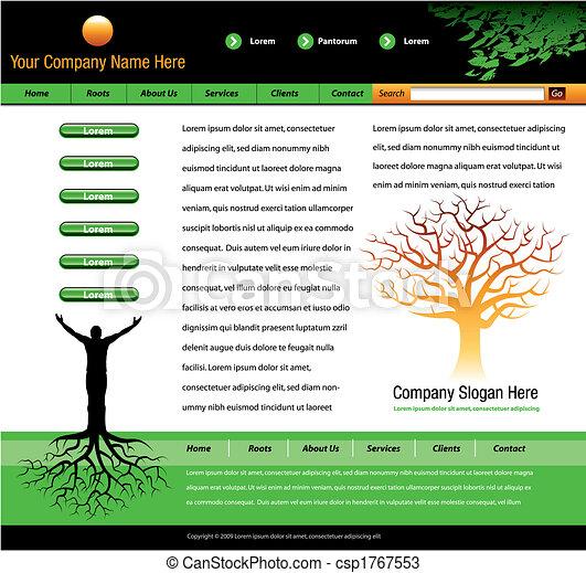 website vector template  - csp1767553