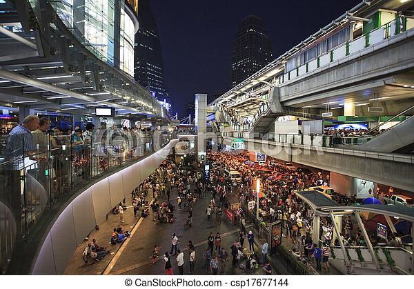 Bangkok Thailand - Jan13 - group of thailand government proteste - csp17677144