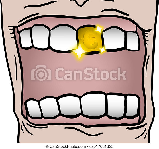 Vector Illustration of Gold tooth - Creative design of ...