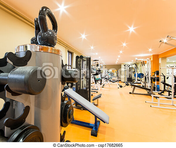 Gym and fitness room. - csp17682665