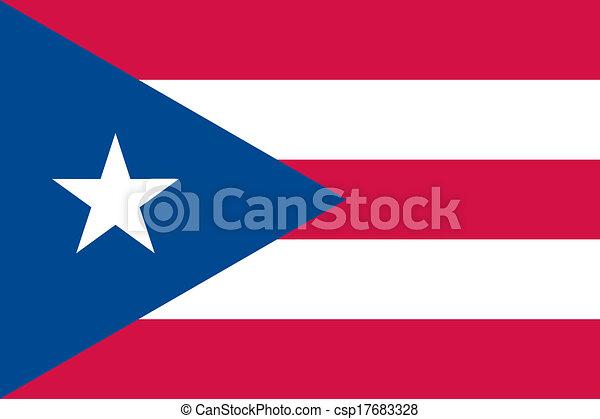 Puerto Rico flag - csp17683328
