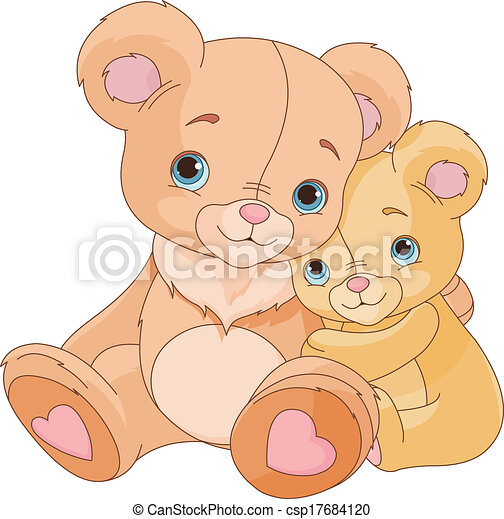 bears - Cute pair of hugging bears csp17684120 - Search Clipart ...