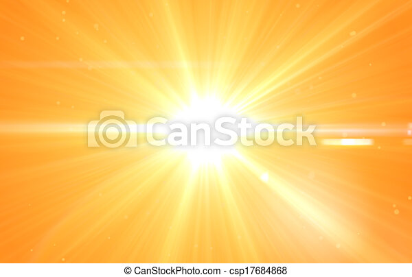 Summer background with a magnificent sun burst - csp17684868