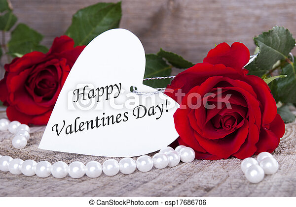 Background with Happy Valentines Day - csp17686706