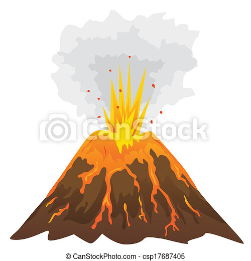 Volcano Clip Art Images