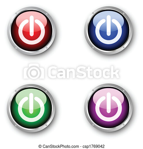 Glossy power icons - csp1769042
