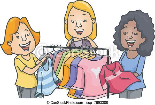 paramount swap meet clothes racks